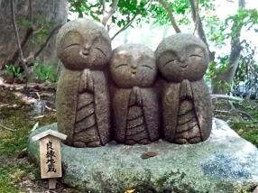 Jizo statues to unborn children, Japan