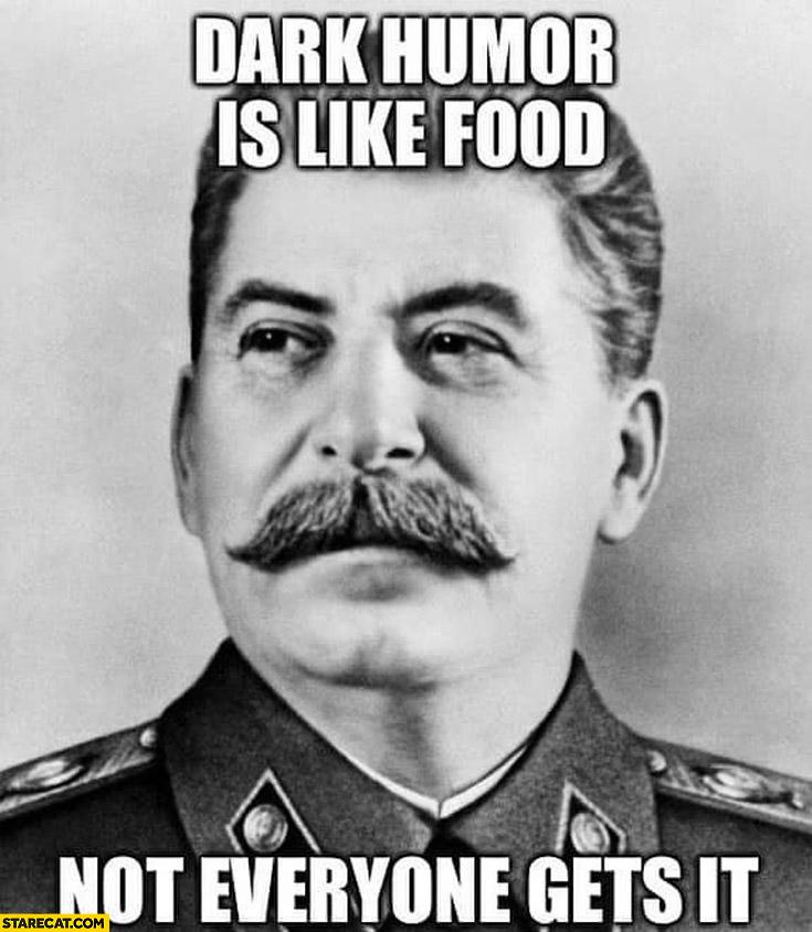 dark humor like food