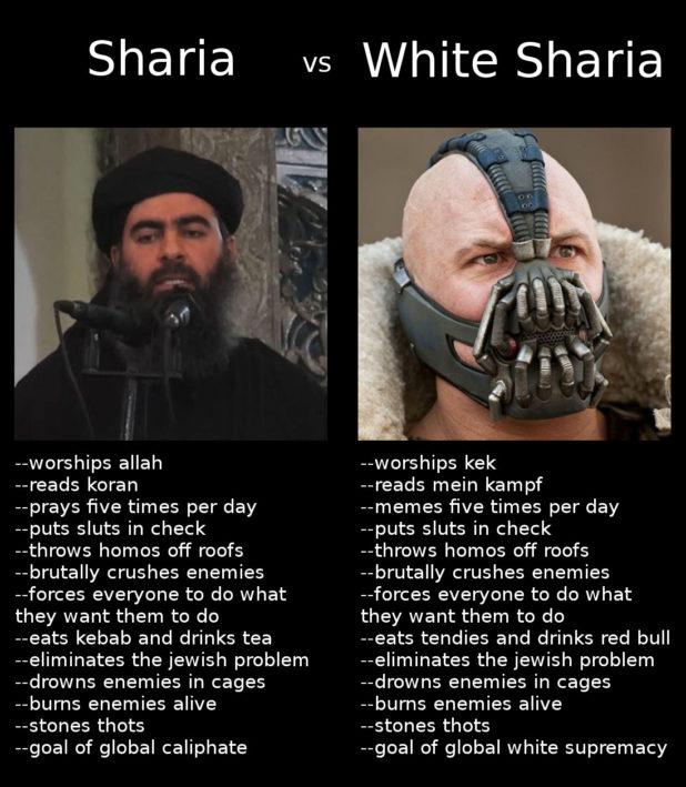 sharia v white sharia