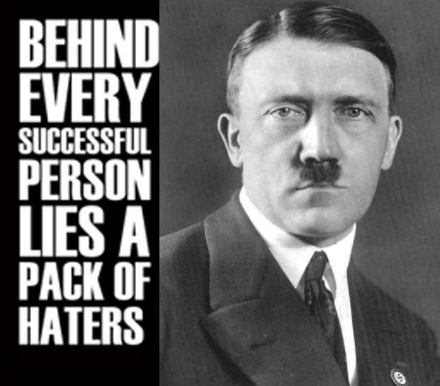 behind every successful person hitler