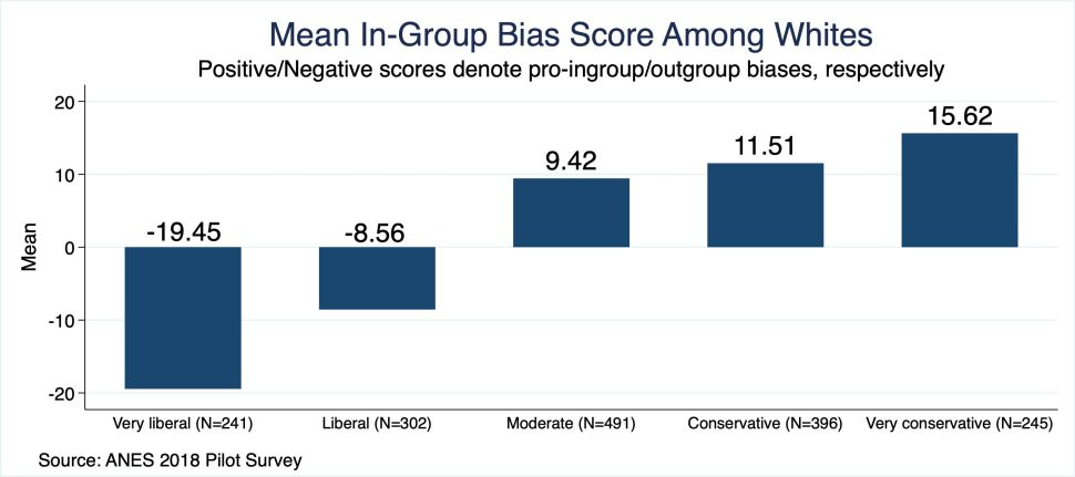 mean in group bias score among whites